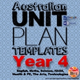 Australian Unit Plan Templates - Year 4