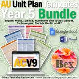 Australian Unit Plan Templates - Year 5
