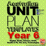 Australian Unit Plan Templates - Year 6
