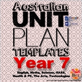 Australian Unit Plan Templates - Year 7
