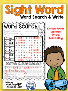 Australian Version - 100 Sight Words Searches Printables