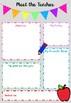 Meet the Teacher Information Sheet - Australian version