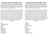 Australian Vocabulary Scavenger Hunt Class Contest