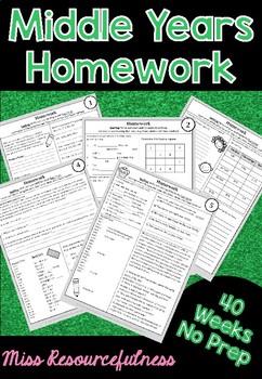 Australian Homework - 40 Weeks