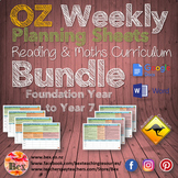 Australian Weekly Planning Sheets Bundle - Foundation Year