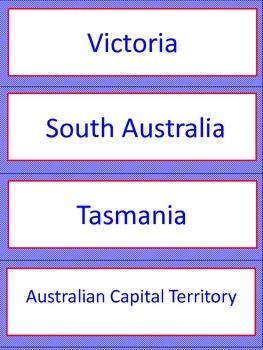 Australian Word Wall Labels
