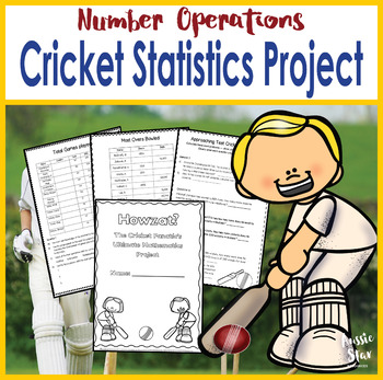 Year 5 & 6 Cricket Maths Project - Four Operations