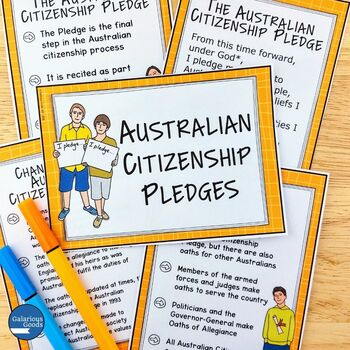 Australian and Global Citizenship Word Wall and Posters (Year 6 HASS)