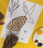 Indigenous dot painting templates - Australian animal outl