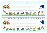 Australian animals themed name desk strip
