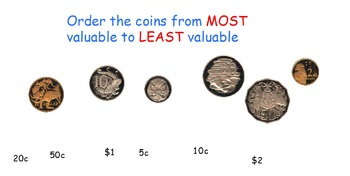 Australian money - counting collections of coins