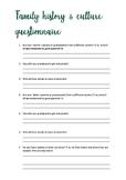 Australian family history questionnaire