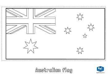 Australian flags template
