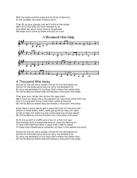 Australian folk songs - Lyrics and Sheet Music!