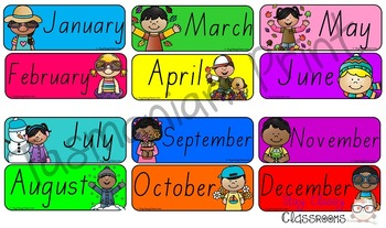 Australian holiday sidekicks - Months of the Year & Days of the Week (TAS Print)