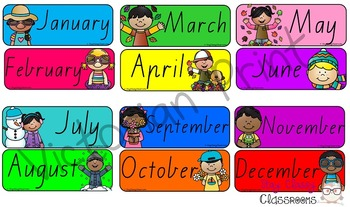 Australian holiday sidekicks - Months of the Year & Days of the Week (VIC Print)