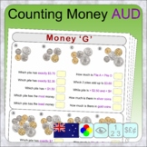 Counting Australian money (distance learning money countin
