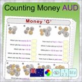 Australian money (17 distance learning worksheets for Money)