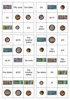 image regarding Money Bingo Printable named Australian income bingo - simple edition