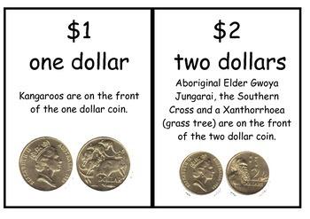 Australian money display