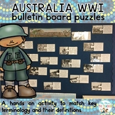 Australian's at War: World War I Vocabulary Bulletin Board