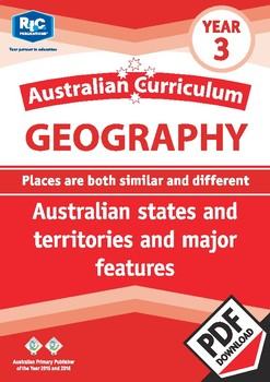 Australian states and territories and major features – Year 3