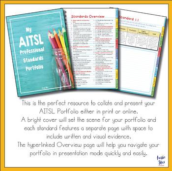 AITSL Standards Portfolio Organiser NEW EDITABLE VERSION