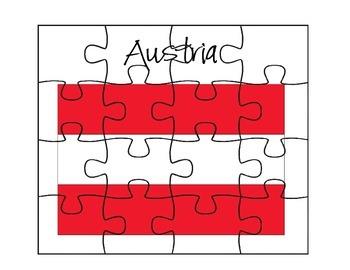 Austria Flag Puzzles