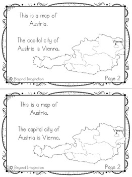 Austria Country Study 48 Pages for Differentiated Learning + Bonus Pages