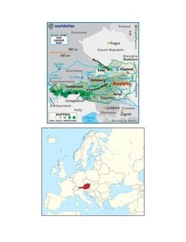 Austria Map Scavenger Hunt