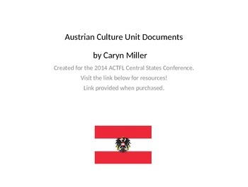 Austrian Culture Materials