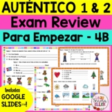Auténtico Realidades 1 and 2 Spanish Final Exam Review Study Guide BUNDLE