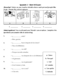Auténtico 1 - Chapter 4A (Realidades 1) Unit Exam (or study guide)