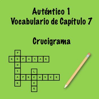 Auténtico 1 Chapter 7 Vocabulary Crosswords
