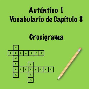 Auténtico 1 Chapter 8 Vocabulary Crosswords