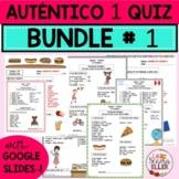 Auténtico Realidades 1 Vocab List Quiz BUNDLE # 1 Print Di