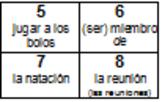 Auténtico 2 Chapter 1B Vocabulary Blocks Movement Activity