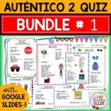 Auténtico Realidades 2 Vocab List Quiz BUNDLE # 1 Print Di