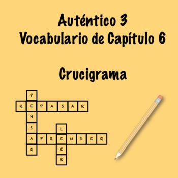 Auténtico 3 Chapter 6 vocabulary crossword