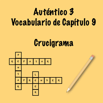 Auténtico 3 Chapter 9 vocabulary crossword