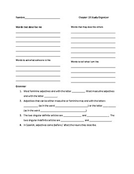 Autentico 1 Chapter 1B Copy Resource Packet