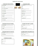 Autentico Chapter 2B Vocabulary List with Grammar