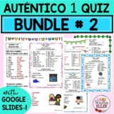 Auténtico Realidades 1 Vocab List Quiz BUNDLE # 2 Print Di