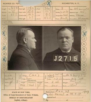 Authentic 1800's Bertillon Criminal Identification Cards and Activity