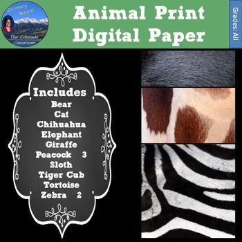 Authentic Animal Print Digital Paper
