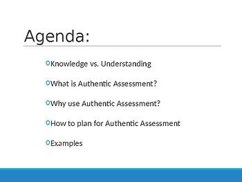Authentic Assessments PD Presentation