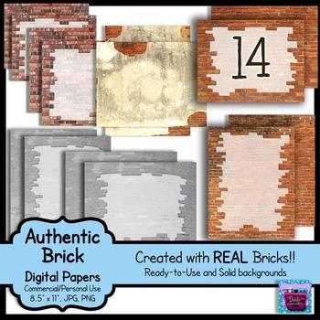 Realistic Brick Digital Paper