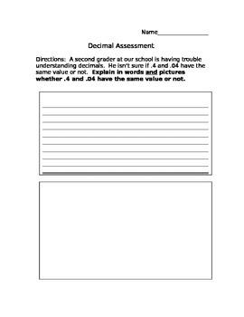 Authentic Decimal Assessment: Testing Understanding of Ten