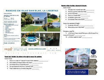 Authentic House Classifieds Readings for level 1/2 Spanish