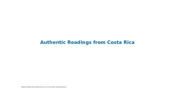 Authentic Readings from Costa Rica